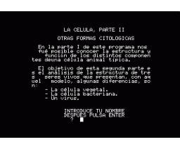 Biología - La Celula II (1987, MSX, Biosoft)