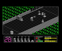 Highway Encounter (1985, MSX, Vortex Software)
