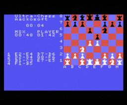 Ultra Chess (1985, MSX, Aackosoft)