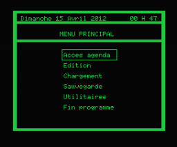 Agenda (1985, MSX, Power Soft)