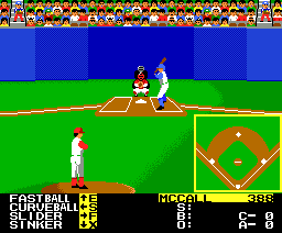 Hard Ball (1987, MSX2, Accolade)