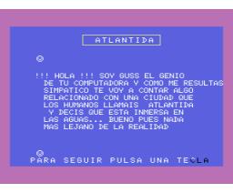 Guss en la Atlantida (MSX, Creativos Editoriales)