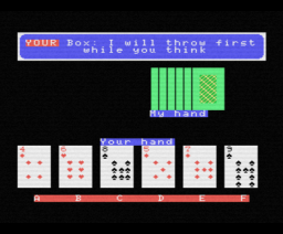 Cribbage (1984, MSX, Mike Shaw)