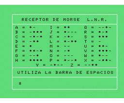 Receptor de Morse (1985, MSX, Load 'n' Run)
