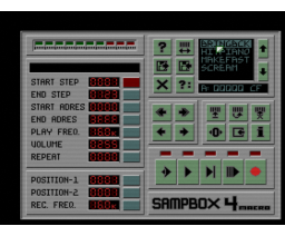 Sampbox 4 macro (1992, MSX2, M. Loor)