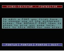 Video-Textstar Fonteditor (1988, MSX2, Data Beutner)