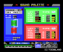 MSX-Audio series Sound Palette (1987, MSX, Musical Plan)