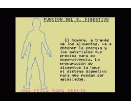 El cuerpo Humano: Sistema Digestivo (1985, MSX, Biosoft)