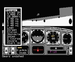 Chuck Yeager's Advanced Flight Trainer (1989, MSX, Electronic Arts)