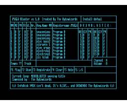 MIDI Blaster (1991, MSX2, The Bytewizards)