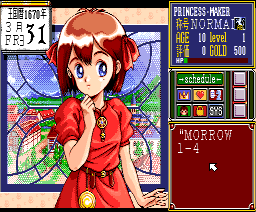 Princess Maker (1992, MSX2, MSX2+, Turbo-R, Microcabin)