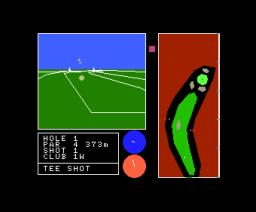 3-D Golf Simulation - High-Speed Edition (1984, MSX, T&ESOFT)