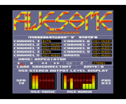 Awesome Compilation Disk #3 (1991, MSX2, Moonsoft)