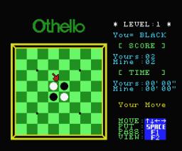Othello (1983, MSX, Sony)