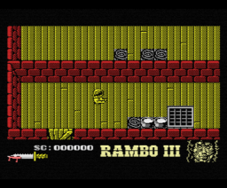 Rambo III (1988, MSX, Ocean)