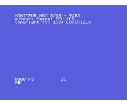 Odin - Editeur, Désassembleur, Assembleur Symbolique (1984, MSX, Loriciels)