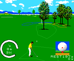 The Golf (1988, MSX2, Pack-In-Video)
