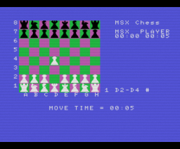 Turbo Chess (1986, MSX, Artic Computing)