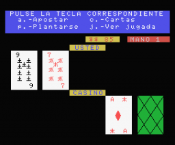 Black Jack (1984, MSX, Indescomp)
