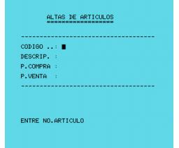 Control de Stocks (1984, MSX, Indescomp)