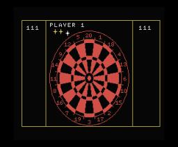 Darts (1987, MSX, Blue Ribbon Software)