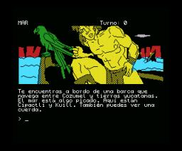 Ci-U-Than Trilogy II (1991, MSX, Aventuras AD)
