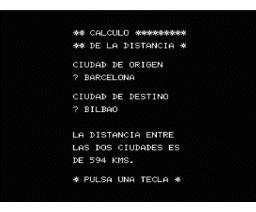 Distancias Kilometricas (1985, MSX, Infopress)