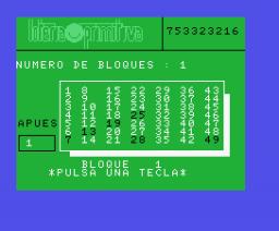 Loteria Primitiva (MSX, Edit Soft)
