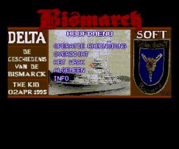 De Geschiedenis van de Bismarck (1995, MSX2, Delta Soft)