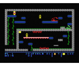 Inca 1 (1987, MSX, The Bytebusters, Double Brain!)