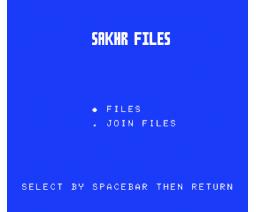 Sahkr Files (1987, MSX, Al Alamiah)
