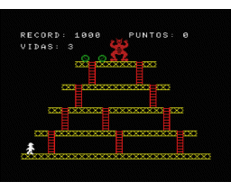 El Gorila (1985, MSX, Load 'n' Run)