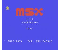 Kaartenbak (1985, MSX, PBNA)