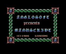 Manuscript (1986, MSX, Anglosoft)