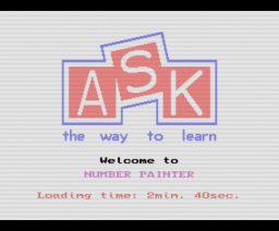 Number Painter (1985, MSX, ASK)