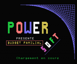 Budget Familial (1985, MSX, Power Soft)
