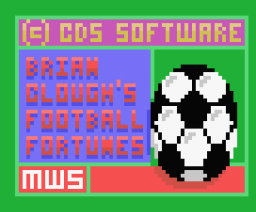 Brian Clough's Football Fortunes (1987, MSX, CDS Software)
