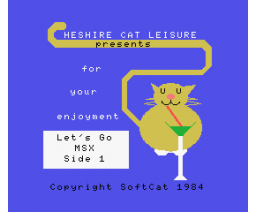 Let's Go MSX (1984, MSX, SoftCat)