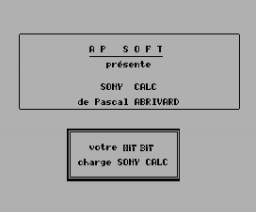 Hit Bit Calc (1985, MSX, AP Soft)