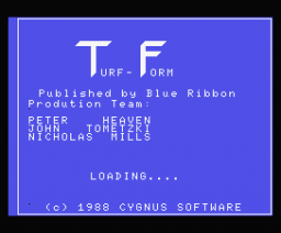 Turf-Form - Beat the Bookie! (1988, MSX, Blue Ribbon Software)
