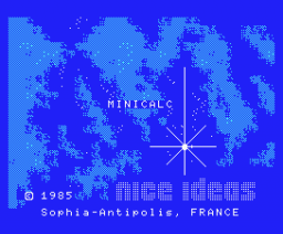 Minicalc (1985, MSX, Nice Ideas)