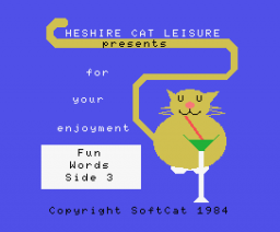 Fun Words Side 3 - Clothes (1984, MSX, SoftCat, AMPALSOFT)