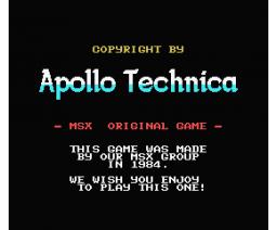 3D Water Driver (1984, MSX, Apollo Technica)