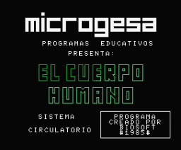 El cuerpo Humano: Sistema Circulatorio (1985, MSX, Biosoft)