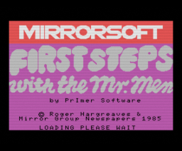 First Steps with the Mr. Men (1985, MSX, PrImer Educational Software)