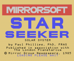 Star Seeker - Solar System (1984, MSX, Mirrorsoft)