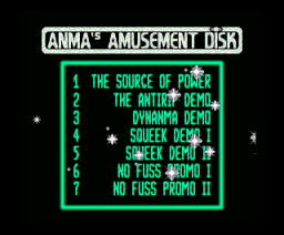 Anma's Amusement Disk (1992, MSX2, MSX Club GHQ, Anma)