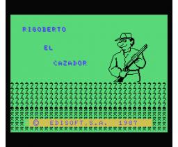 Rigoberto el Cazador (1987, MSX, Edisoft)