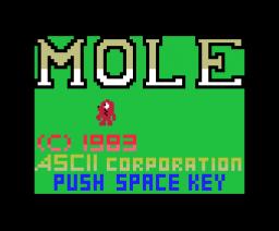 Mole (1983, MSX, ASCII Corporation)