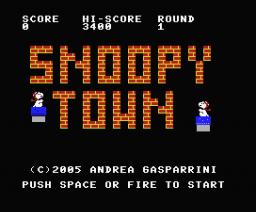 Snoopy (2005, MSX, AG Software, Mauro Marinilli)